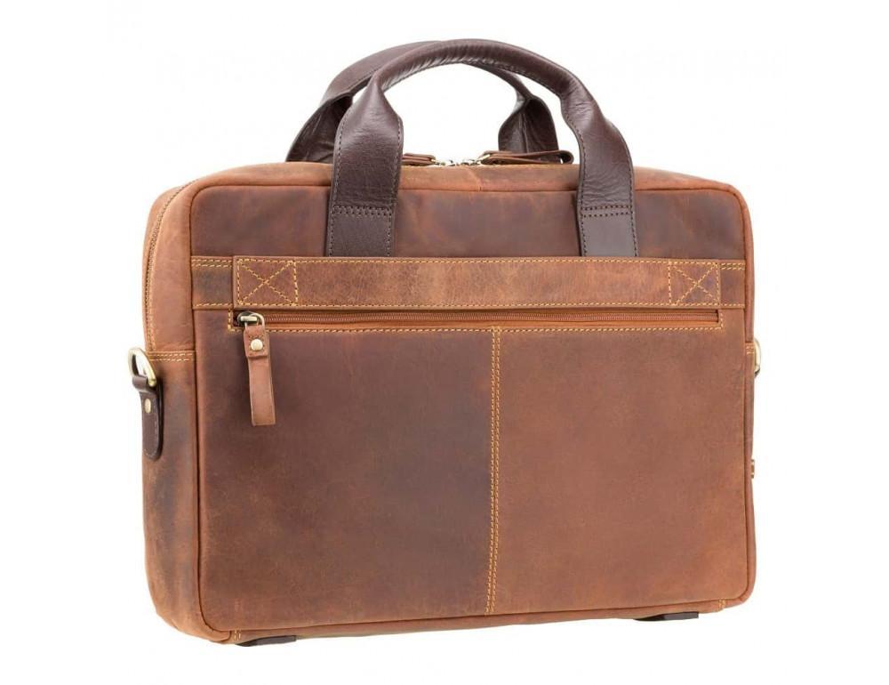 Кожаная сумка для ноутбука 15'' Visconti Toscana TC84 Hugo c RFID коричневая - Фото № 3