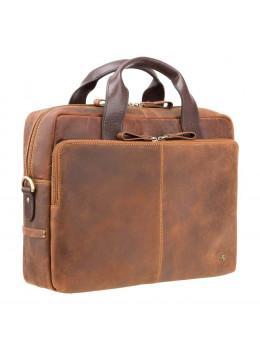 Кожаная сумка для ноутбука 15'' Visconti Toscana TC84 Hugo c RFID коричневая