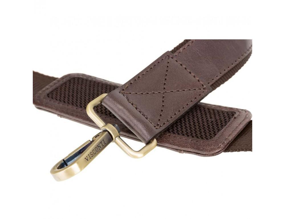 Кожаная сумка для ноутбука 15'' Visconti Toscana TC84 Hugo c RFID коричневая - Фото № 7