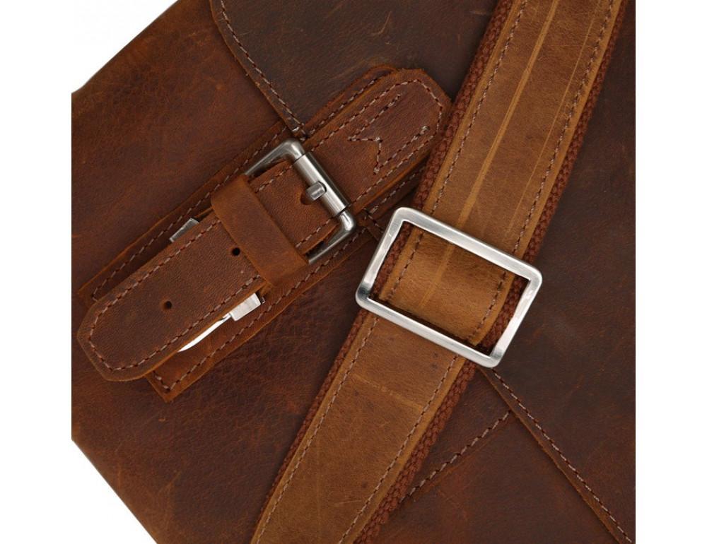 Чоловіча шкіряна сумка-месенджер TIDING BAG 6002B-1 коричнева - Фотографія № 3