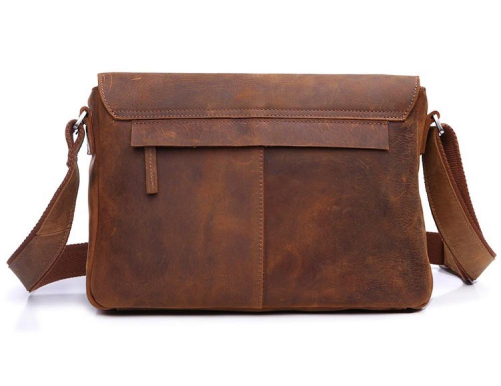 Чоловіча шкіряна сумка-месенджер TIDING BAG 6002B-1 коричнева - Фотографія № 2