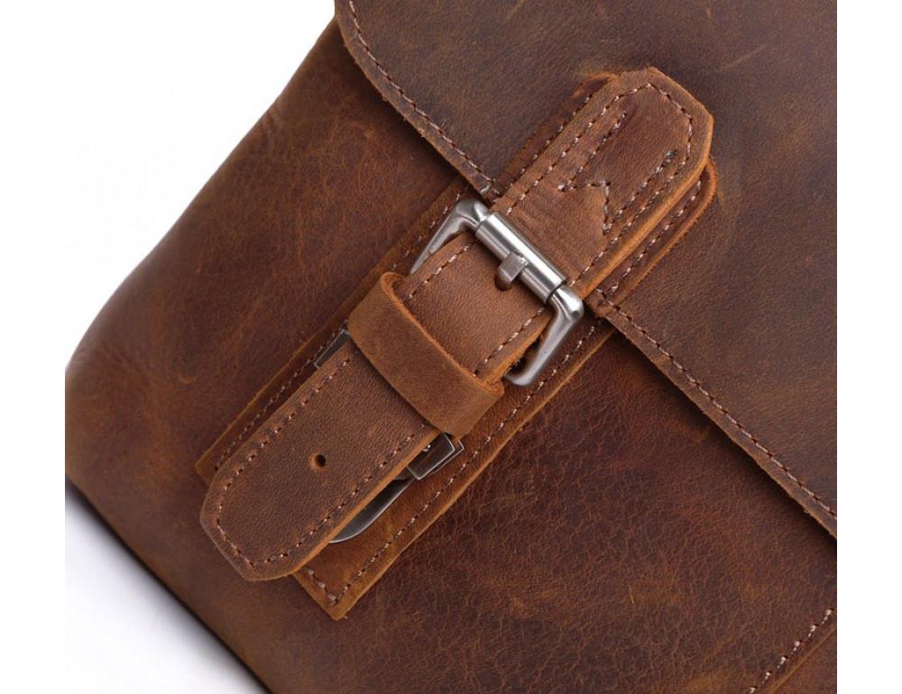 Чоловіча шкіряна сумка-месенджер TIDING BAG 6002B-1 коричнева - Фотографія № 8