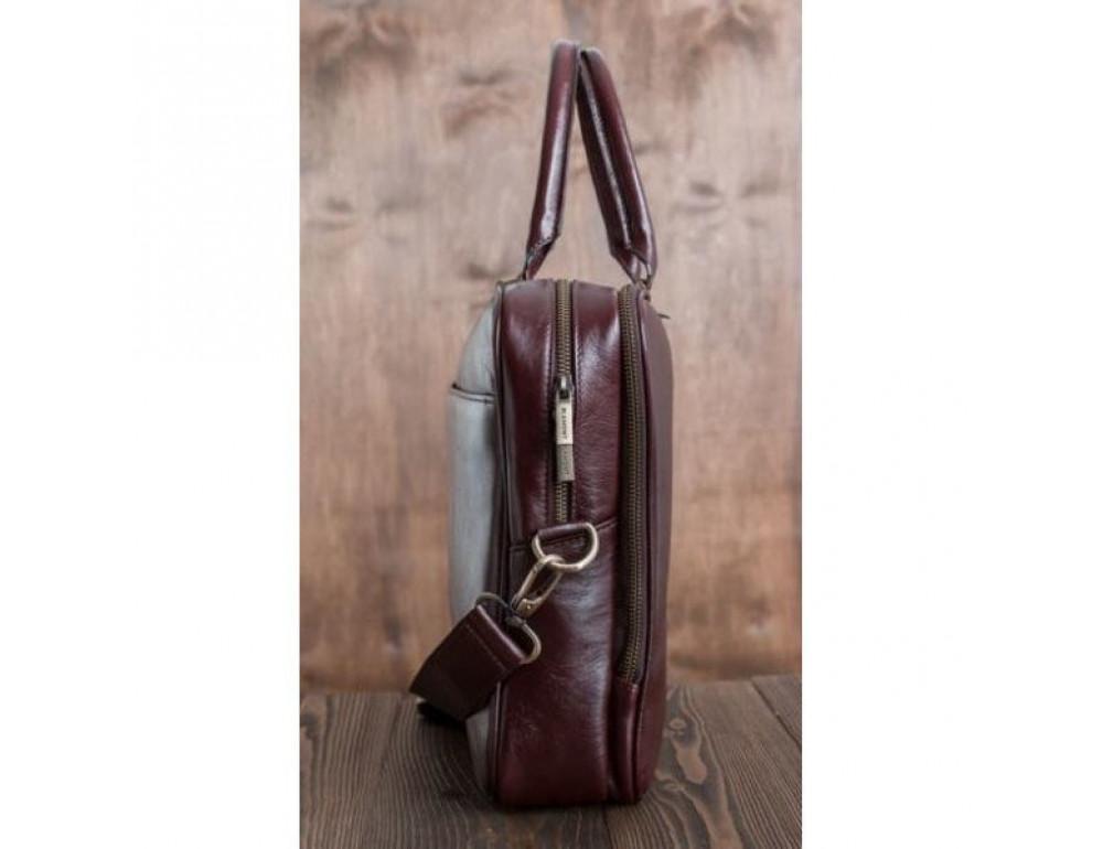 Чоловіча шкіряна сумка BLAMONT BN069R - Фотографія № 4