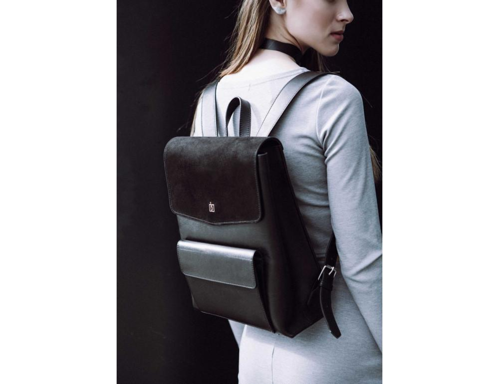 Классический кожаный рюкзак Blanknote Blank-Bag-1-black - Фото № 5
