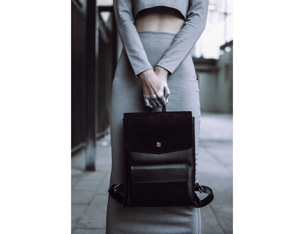 Классический кожаный рюкзак Blanknote Blank-Bag-1-black - Фото № 4