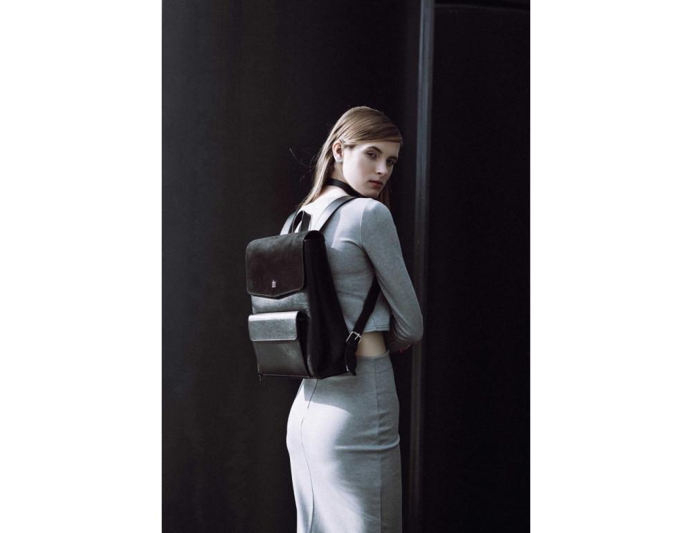 Классический кожаный рюкзак Blanknote Blank-Bag-1-black - Фото № 2