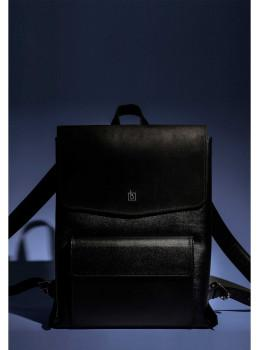 Классический кожаный рюкзак Blanknote Blank-Bag-1-black