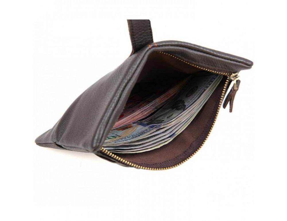 Кожаный портмоне TIDING BAG 8140C тёмно-коричневый - Фото № 4
