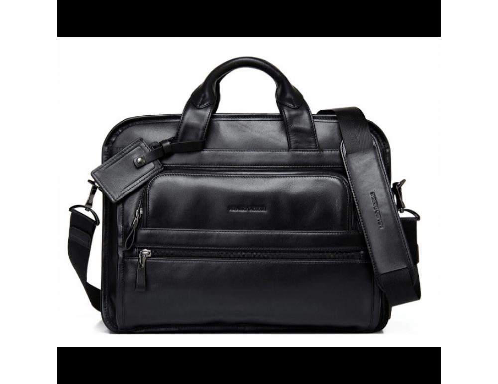 Кожаная сумка Tiding Bag B3-2020A чёрная - Фото № 2