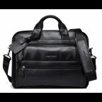 Кожаная сумка Tiding Bag B3-2020A чёрная - Фото № 101