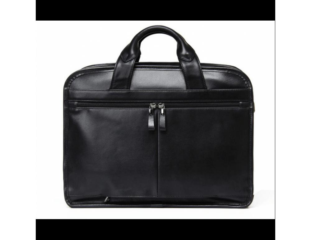 Кожаная сумка Tiding Bag B3-2020A чёрная - Фото № 4