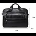 Кожаная сумка Tiding Bag B3-2020A чёрная - Фото № 105