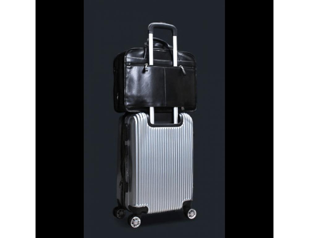 Кожаная сумка Tiding Bag B3-2020A чёрная - Фото № 7