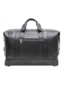 1e0d84585b70 Мужская дорожная кожаная сумка (Баул) Black Diamond BD29A чёрная