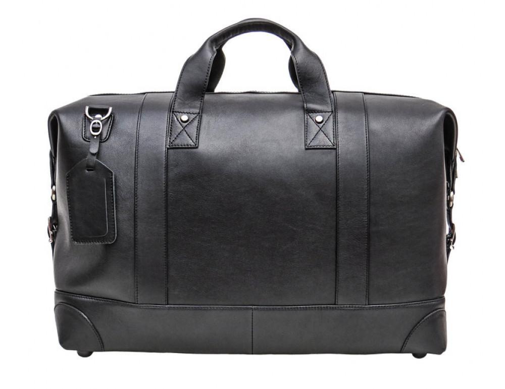 Мужская дорожная кожаная сумка Black Diamond BD29A чёрная - Фото № 3