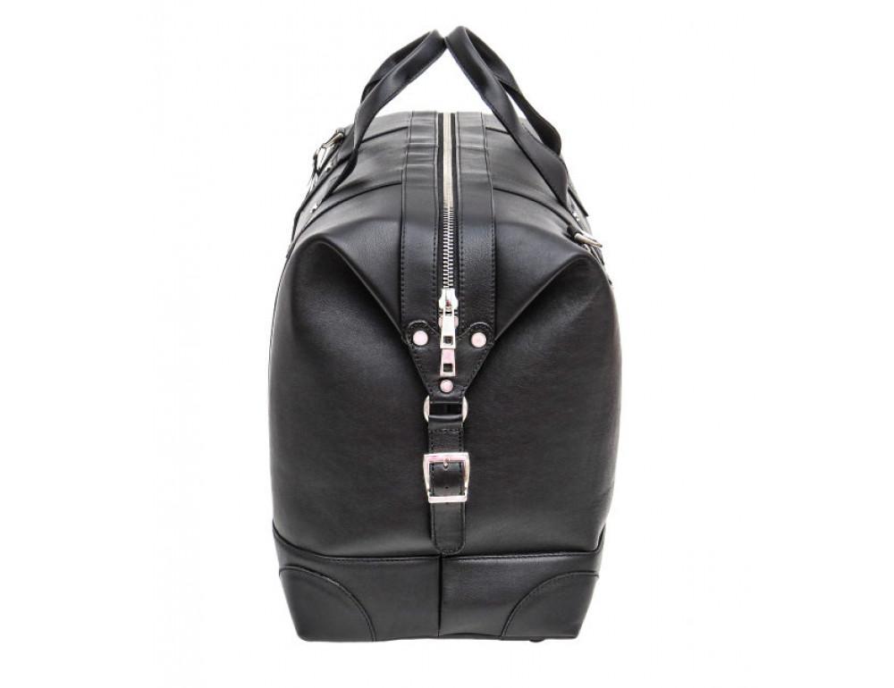 Мужская дорожная кожаная сумка Black Diamond BD29A чёрная - Фото № 4