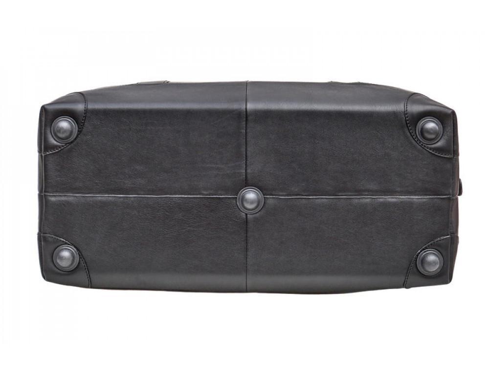 Мужская дорожная кожаная сумка Black Diamond BD29A чёрная - Фото № 5