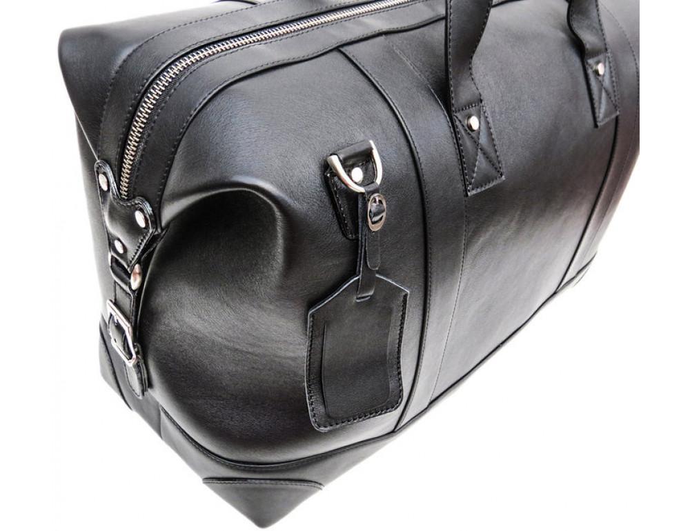 Мужская дорожная кожаная сумка Black Diamond BD29A чёрная - Фото № 7