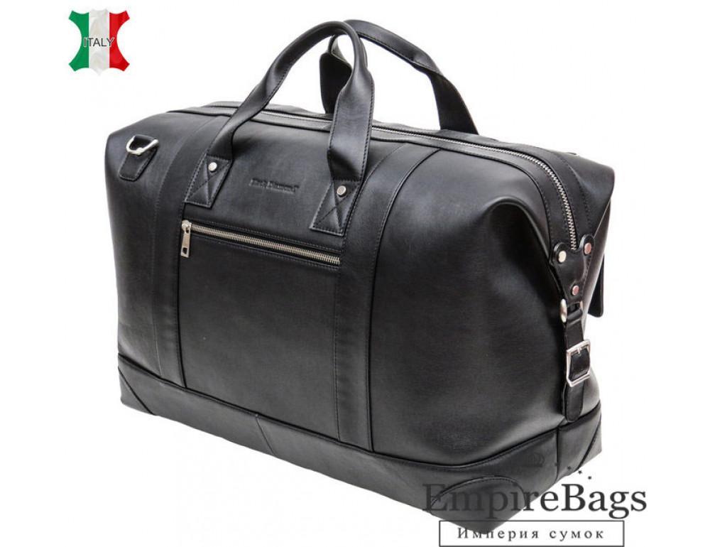 Мужская дорожная кожаная сумка Black Diamond BD29A чёрная - Фото № 1