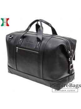 Мужская дорожная кожаная сумка (Баул) Black Diamond BD29A чёрная