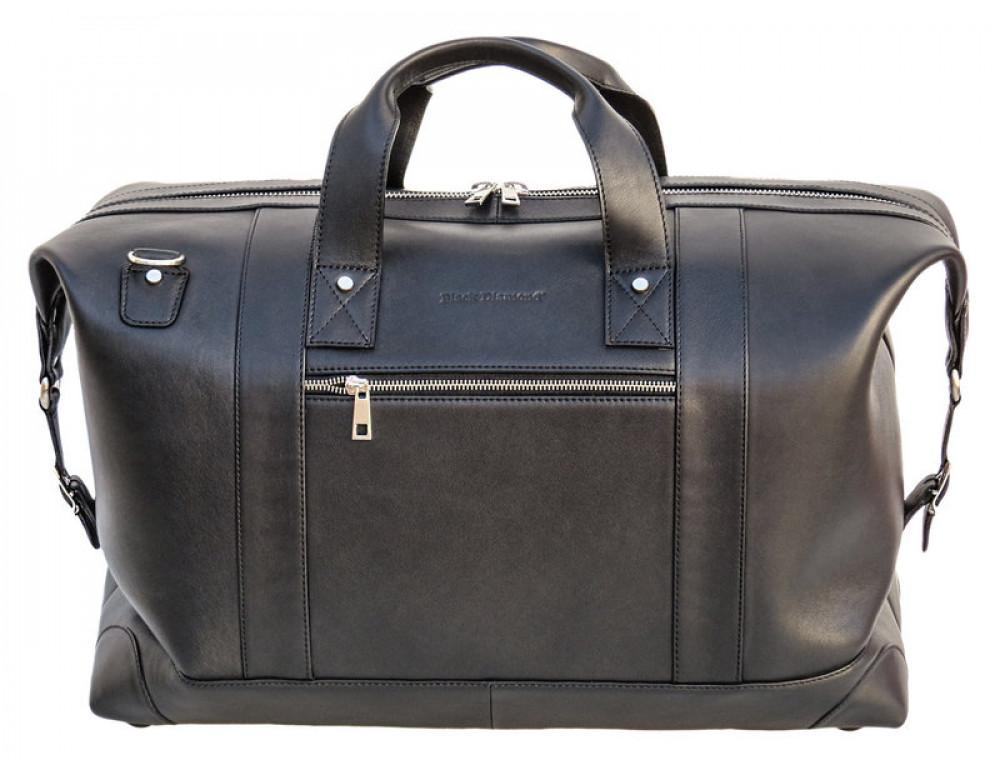 Мужская дорожная кожаная сумка (Баул) Black Diamond BD29Ator чёрная - Фото № 2