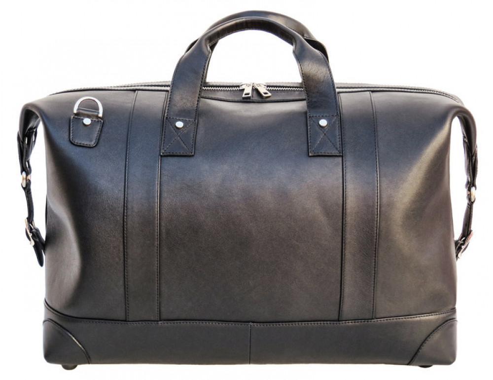 Мужская дорожная кожаная сумка (Баул) Black Diamond BD29Ator чёрная - Фото № 3