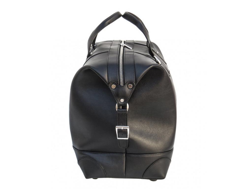 Мужская дорожная кожаная сумка (Баул) Black Diamond BD29Ator чёрная - Фото № 4