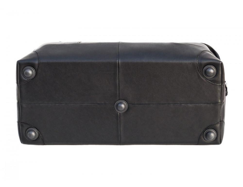 Мужская дорожная кожаная сумка (Баул) Black Diamond BD29Ator чёрная - Фото № 5