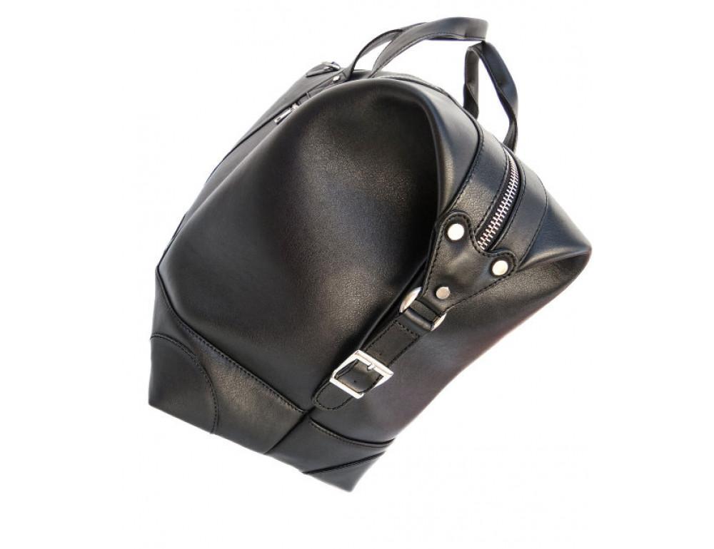 Мужская дорожная кожаная сумка (Баул) Black Diamond BD29Ator чёрная - Фото № 6