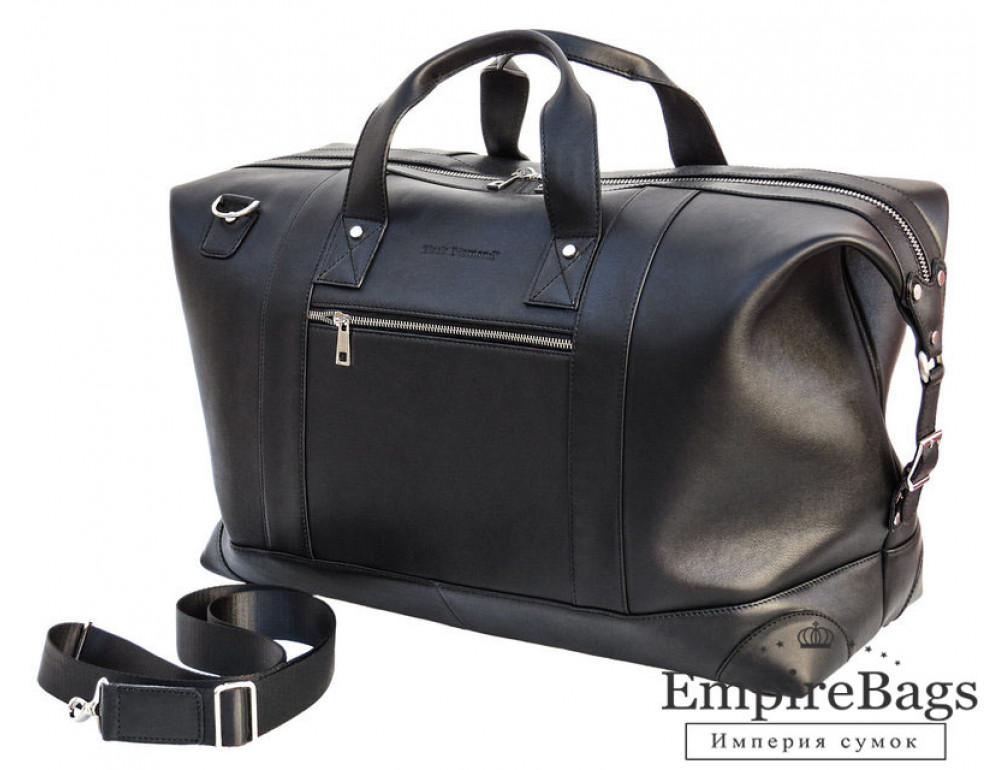 Мужская дорожная кожаная сумка (Баул) Black Diamond BD29Ator чёрная - Фото № 1