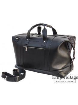 Мужская дорожная кожаная сумка (Баул) Black Diamond BD29Ator чёрная