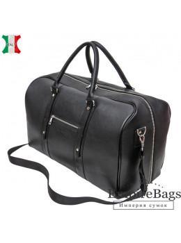 Мужская дорожная кожаная сумка (Баул) Black Diamond BD31A чёрная