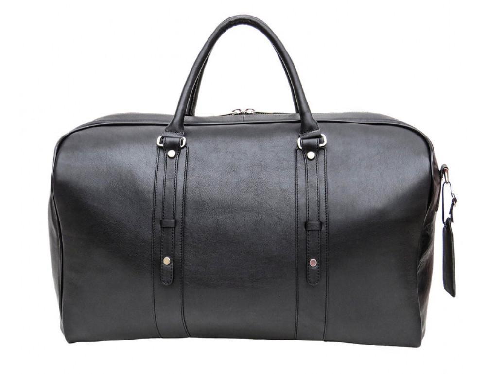 Мужская дорожная кожаная сумка Black Diamond BD31A чёрная - Фото № 3