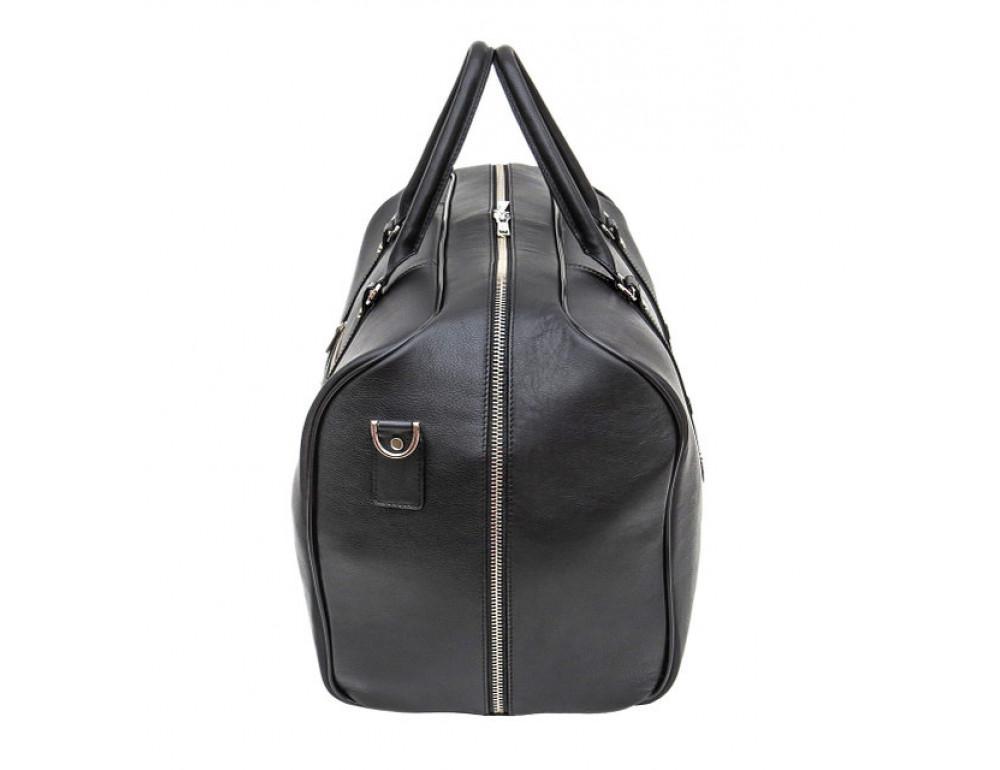 Мужская дорожная кожаная сумка Black Diamond BD31A чёрная - Фото № 4
