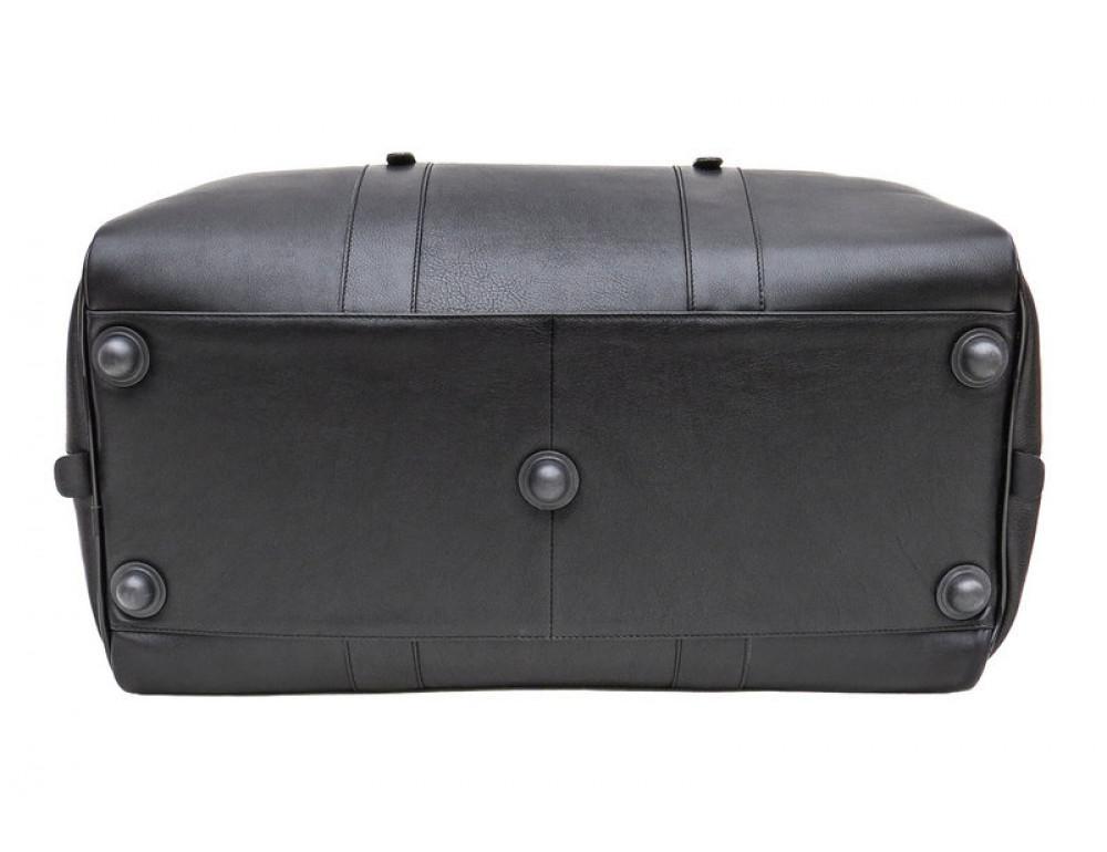 Мужская дорожная кожаная сумка Black Diamond BD31A чёрная - Фото № 5