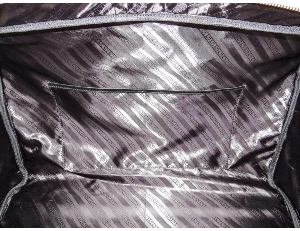 Мужская дорожная кожаная сумка Black Diamond BD31A чёрная - Фото № 10
