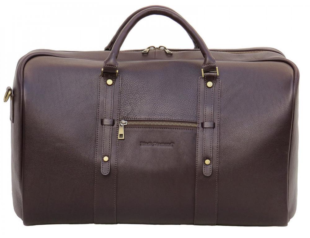 Мужская дорожная кожаная сумка  Black Diamond BD31C коричневый - Фото № 2