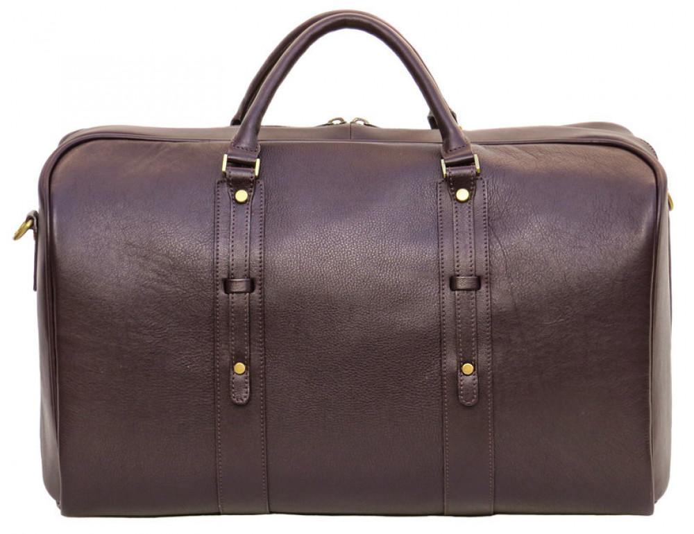 Мужская дорожная кожаная сумка  Black Diamond BD31C коричневый - Фото № 3