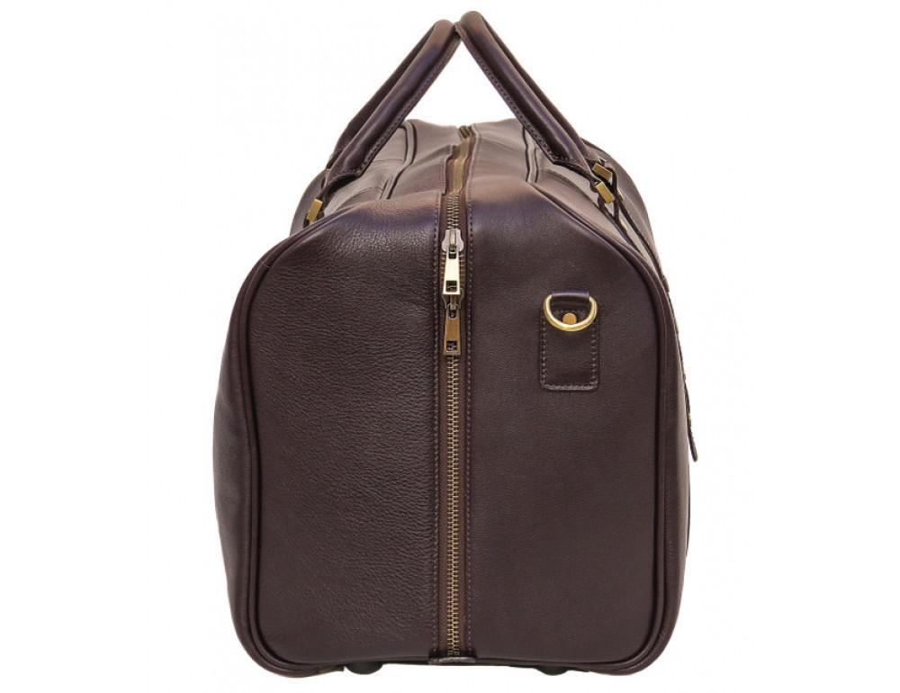 Мужская дорожная кожаная сумка  Black Diamond BD31C коричневый - Фото № 4