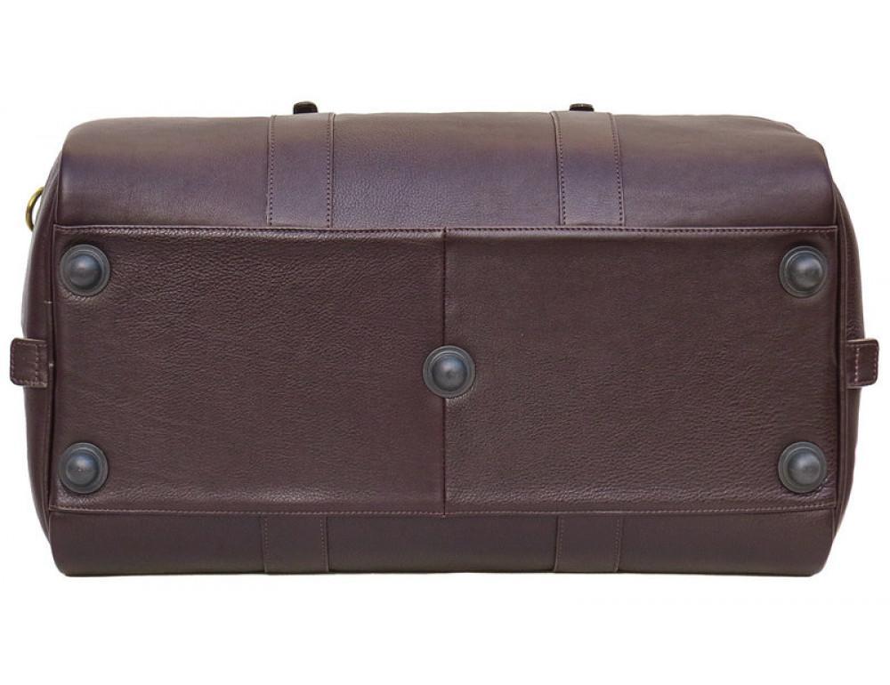 Мужская дорожная кожаная сумка  Black Diamond BD31C коричневый - Фото № 5