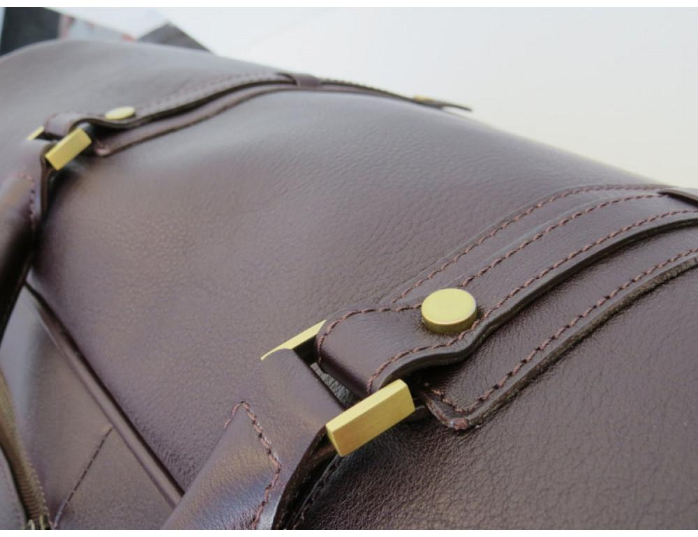 Мужская дорожная кожаная сумка  Black Diamond BD31C коричневый - Фото № 7