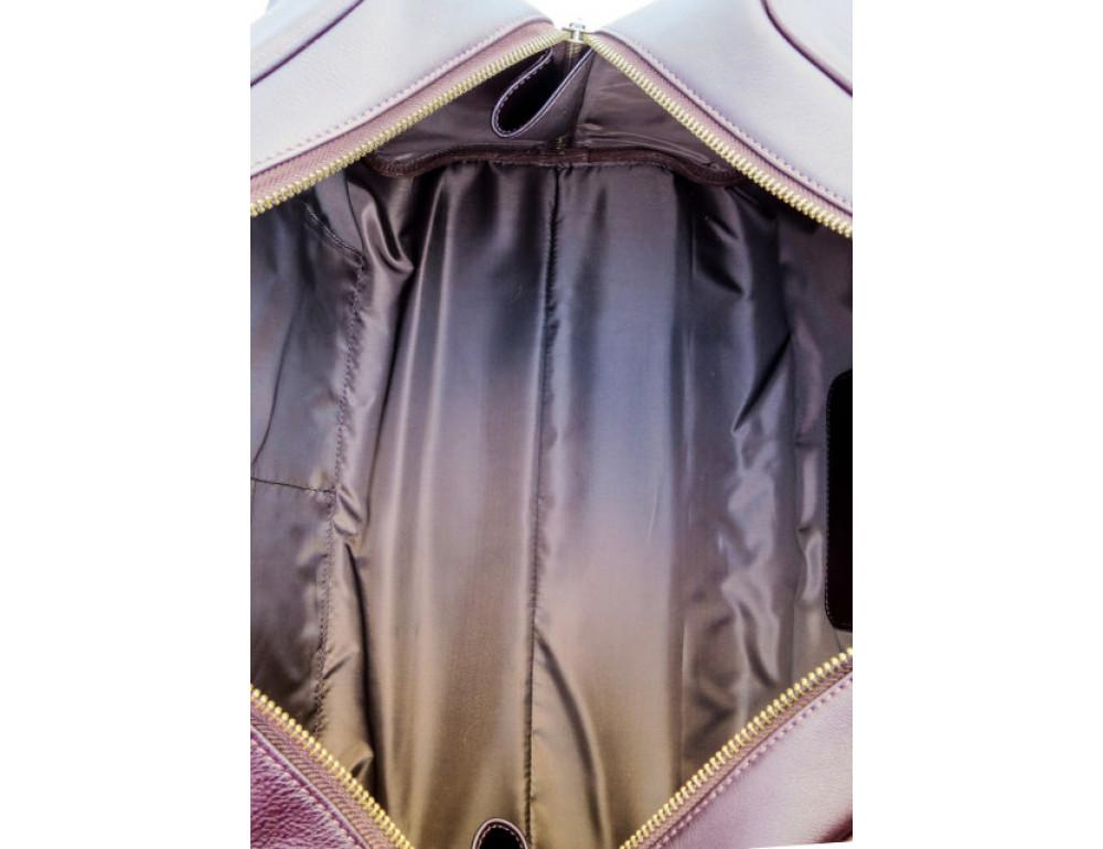 Мужская дорожная кожаная сумка  Black Diamond BD31C коричневый - Фото № 8