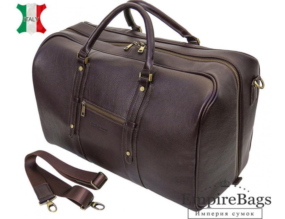 Чоловіча дорожня шкіряна сумка Black Diamond BD31C коричневий