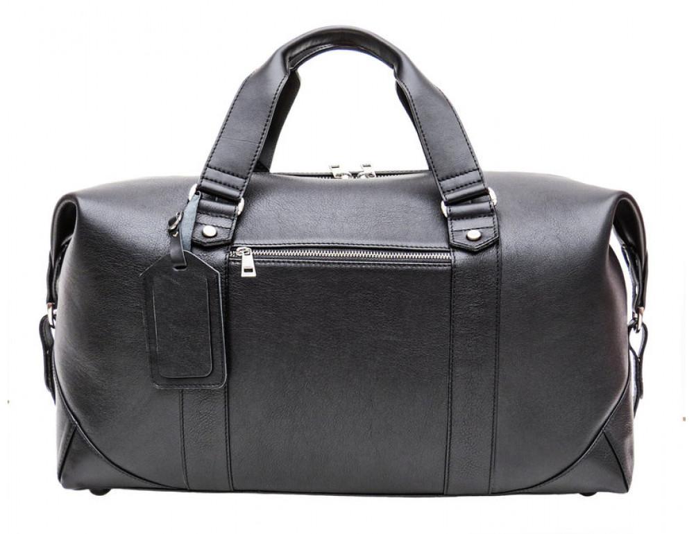Мужская дорожная кожаная сумка Black Diamond BD32A чёрная - Фото № 3