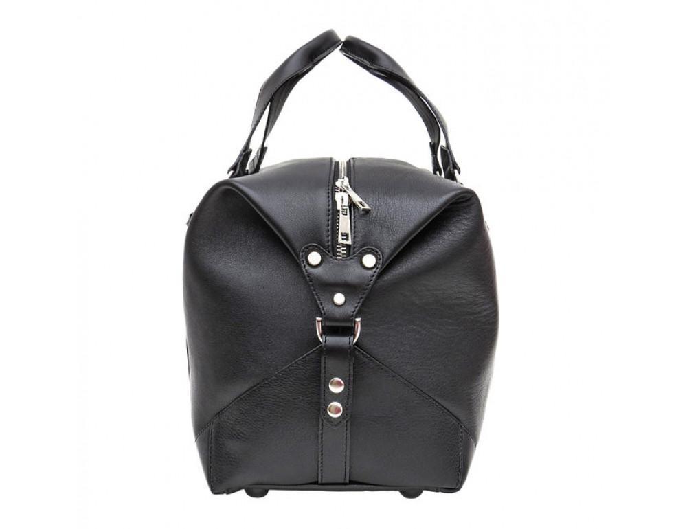 Мужская дорожная кожаная сумка Black Diamond BD32A чёрная - Фото № 4