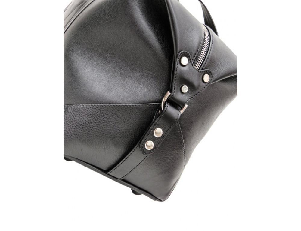 Мужская дорожная кожаная сумка Black Diamond BD32A чёрная - Фото № 6