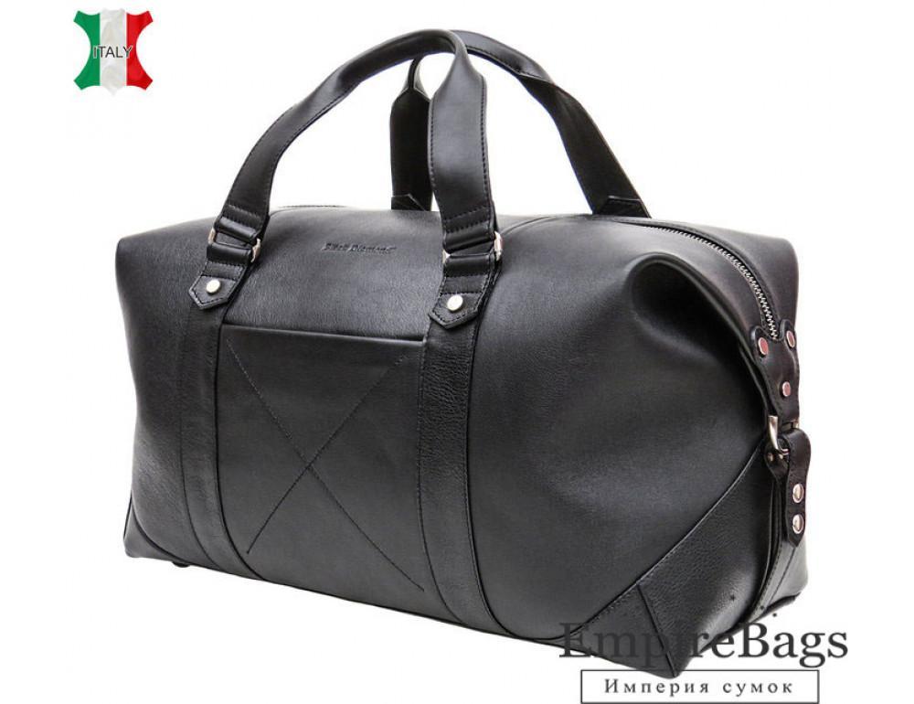 Чоловіча дорожня шкіряна сумка Black Diamond BD32A чорна