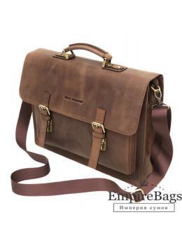 Стильный мужской кожаный портфель Black Diamond BD50v1C коричневый