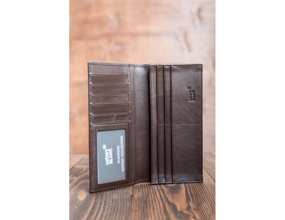 Кожаное портмоне Montblanc MOI-9403C темно-коричневый - Фото № 3