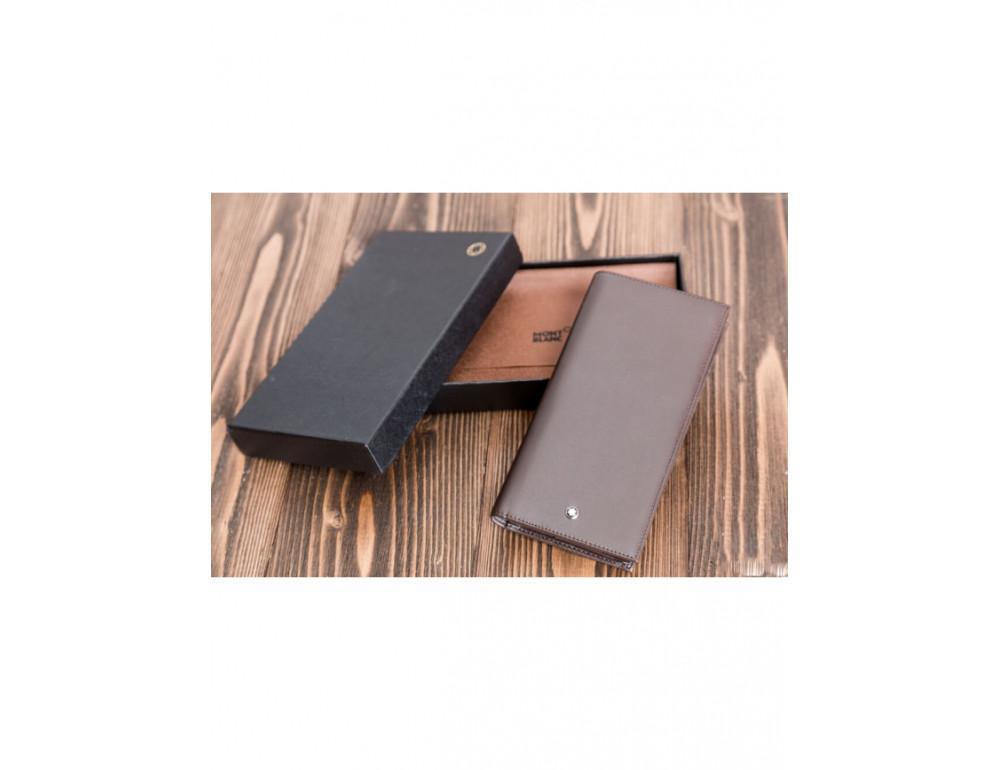 Кожаное портмоне Montblanc MOI-9403C темно-коричневый - Фото № 5